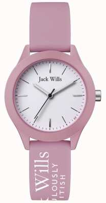 Jack Wills |ウィメンズユニオンホワイトダイヤル|ピンクのシリコンストラップ| JW008PKWH