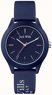 Jack Wills |女性組合ネイビーダイヤル|ネイビーシリコンストラップ| JW009NVBL