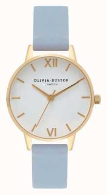 Olivia Burton |レディースチョークブルーストラップ|ベクターイラスト| CLIPARTOホワイトダイヤル| OB16MDW24