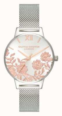 Olivia Burton |レディースレースの詳細ステンレスメッシュブレスレット| Jewelry-stores.co.uk OB16MV90