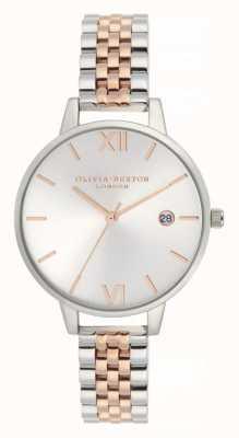 Olivia Burton  レディースデミ日付 ツートーンステンレススチールブレスレット  Jewelry-stores.co.uk OB16DE06