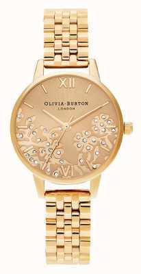 Olivia Burton |レディース宝石をちりばめたレースゴールドトーンブレスレット|写真ゴールドトーンブレスレット OB16MV105
