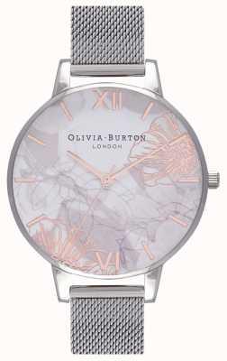 Olivia Burton |レディース抽象的な花柄|ベクターイラスト| CLIPARTOスチールメッシュブレスレット|写真スチールメッシュブレスレット OB16VM20