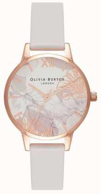 Olivia Burton |レディース抽象的な花柄|ベクターイラスト| CLIPARTOブラッシュレザーストラップ|ベクターイラスト| CLIPARTO OB16VM12