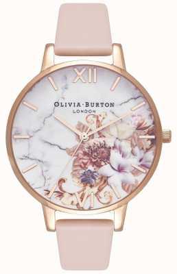 Olivia Burton |レディース大理石の花柄|写真大理石の花柄ヌードピーチレザーストラップ|ベクターイラスト| CLIPARTO OB16CS12