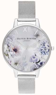 Olivia Burton |レディース日光の花柄スチールメッシュブレスレット|写真スチールメッシュブレスレット OB16EG117
