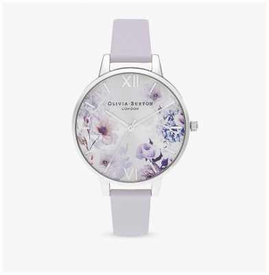Olivia Burton |レディース日光の花柄パルマバイオレットレザーストラップ|ベクターイラスト| CLIPARTO OB16EG137