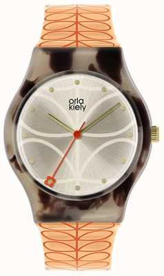 Orla Kiely |レディース|シーグラスグリーンケース|ピンクステムプリントストラップ| OK2310