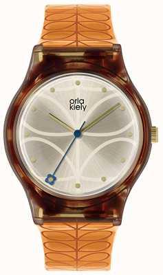Orla Kiely |レディース|べっ甲ケース|オレンジステムプリントストラップ| OK2308