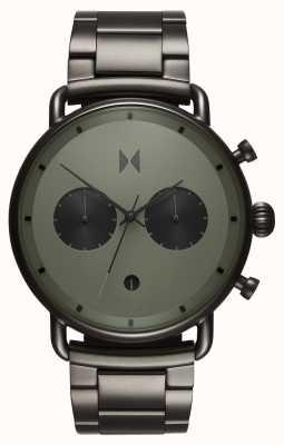 MVMT Blacktopラリーグリーンガンメタル| pvdブレスレット|緑の文字盤 D-BT01-OLGU