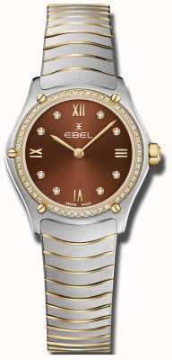EBEL 女性スポーツクラシック|写真女性スポーツクラシックブラウンダイヤル|ダイヤモンドセットステンレス 1216443A