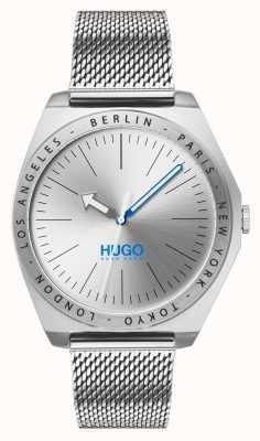 HUGO #act |ステンレスメッシュシルバーダイヤル 1530107