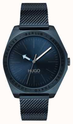 HUGO #act |ブルーIPメッシュ|ベクターイラスト| CLIPARTOブルーダイヤル 1530109