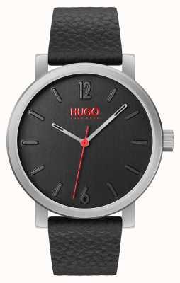 HUGO #rase |ブラックレザーストラップ|ブラックダイヤル 1530115
