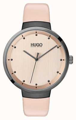 HUGO #go |ピンクレザーストラップ|ローズゴールドダイヤル 1540001