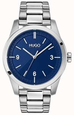 HUGO #create |ステンレススチールブレスレット|写真ステンレススチールブレスレットブルーダイヤル 1530015