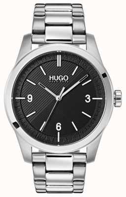 HUGO #create |ステンレススチールブレスレット|写真ステンレススチールブレスレットブラックダイヤル 1530016
