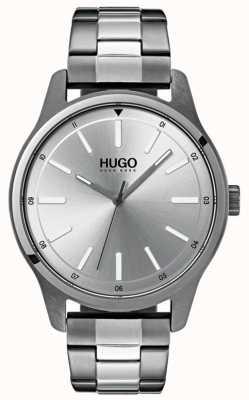 HUGO #あえてステンレススチールブレスレット|写真ステンレススチールブレスレットシルバーダイヤル 1530021