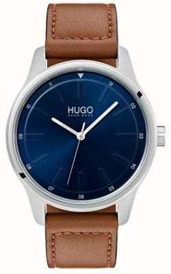HUGO #あえてブラウンレザーストラップ|ブルーダイヤル 1530029