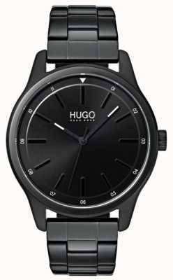 HUGO #あえて|ブラックipブレスレット|ブラックダイヤル 1530040