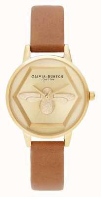 Olivia Burton | 3Dミツバチチャリティウォッチ|ハニータンビーガンストラップ| OB16AM167