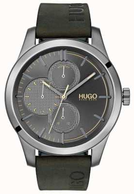 HUGO #discover |グリーンレザーストラップ|グレーダイヤル 1530084