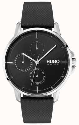 HUGO #focus |黒革ストラップ|ブラックダイヤル 1530022