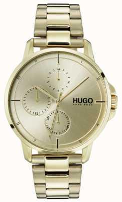 HUGO #focus |ゴールドipブレスレット|ゴールドダイヤル 1530026