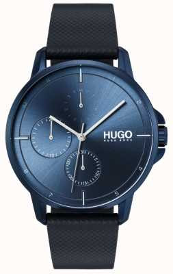 HUGO #focus |ブルーレザーストラップ|ブルーダイヤル 1530033