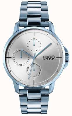 HUGO #focus |ブルーipブレスレット|シルバーダイヤル 1530051