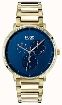 HUGO #guide |ゴールドipブレスレット|ブルーダイヤル 1530011