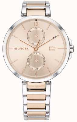 Tommy Hilfiger |女性のツートンカラーのステンレススチールブレスレット|赤面ダイヤル| 1782127