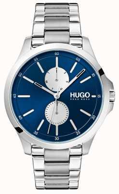 HUGO #jump |ステンレスブレスレット|ブルーダイヤル 1530004