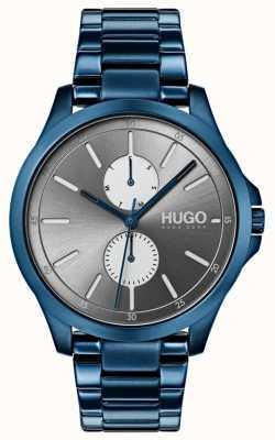 HUGO #jump |ブルーipブレスレット|グレーダイヤル 1530006