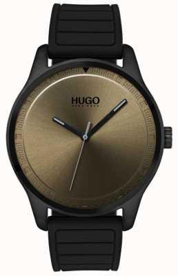 HUGO #move |ブラックラバーストラップ|写真ブラックラバーストラップカーキダイヤル 1530041
