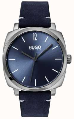 HUGO #own |ブルーレザーストラップ|ブルーダイヤル 1530069