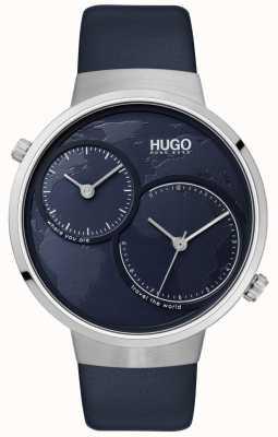 HUGO #travel |ブルーレザーストラップ|ブルーダイヤル 1530053