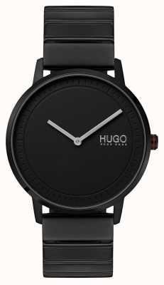 HUGO #echo |ブラックipブレスレット|ブラックダイヤル 1520020