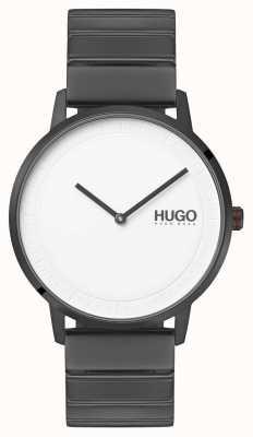 HUGO #echo |グレーipブレスレット|ホワイトダイヤル 1520022