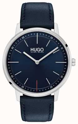 HUGO #exist |ブルーレザーストラップ|ブルーダイヤル 1520008