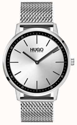 HUGO #exist |ステンレスメッシュシルバーダイヤル 1520010