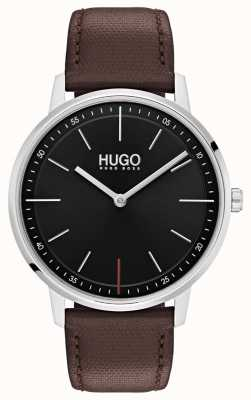 HUGO #exist |ブラウンレザーストラップ|ブラックダイヤル 1520014
