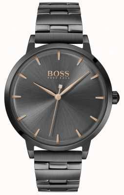 BOSS |女性用マリーナブラックDVDメッキブレスレット| Jewelry-stores.co.ukブラックダイヤル| 1502503