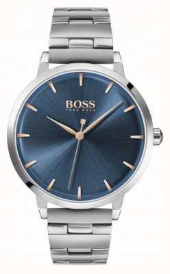 Boss |女性のマリーナ|ステンレスブレスレット|ブルーダイヤル| 1502501