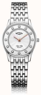 Rotary |女性用ウルトラスリムステンレス鋼|パールダイヤルの母 LB08300/01/D