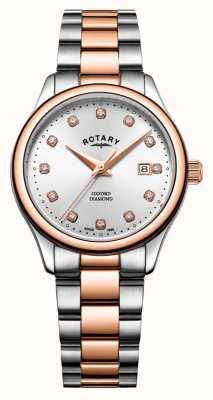 Rotary |ウィメンズオックスフォードツートーンステンレス鋼|シルバーサンレイ LB05094/70/D