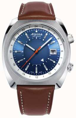 Alpina |スタミマーパイロット遺産自動|ブラウンレザー|写真ブラウンレザー AL-555LNS4H6