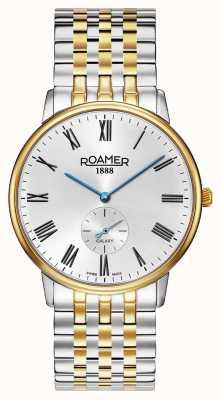 Roamer |男性の銀河|ツートーンステンレススチール|シルバーダイヤル| 620710 47 15 50