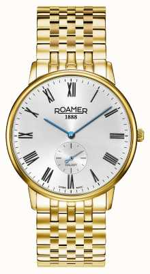 Roamer |男性の銀河|金メッキステンレス鋼|白文字盤| 620710 48 15 50