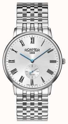 Roamer |メンズ要素|ステンレスシルバーブレスレット|黒文字盤| 650810 41 55 50